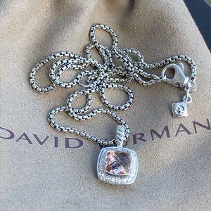 David Yurman Morganite & Diamond Necklace